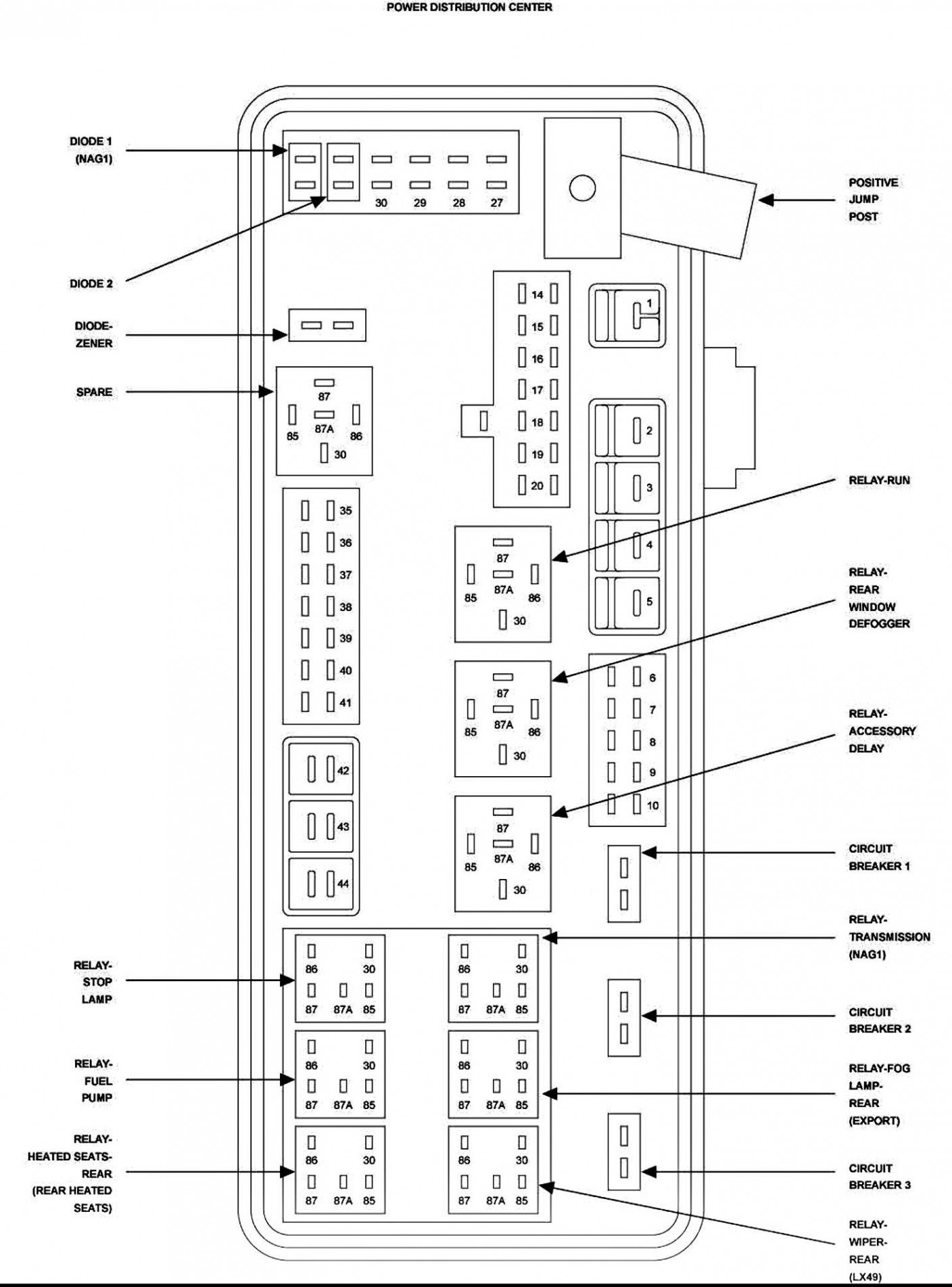 2008 Chrysler Sebring Fuse Box Diagram - exatin.info