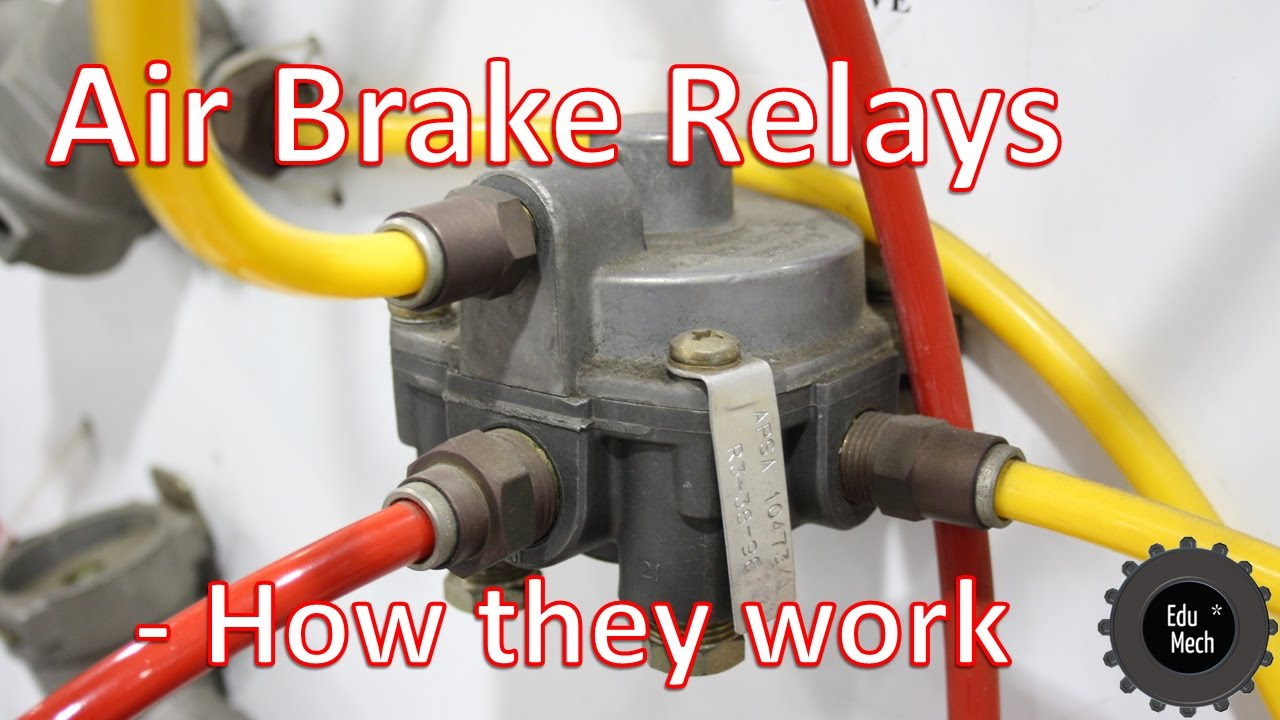 Air Brake Foot Valve Diagram Air Brake Relay How It Works Air Braking Systems And Commercial Vehicles
