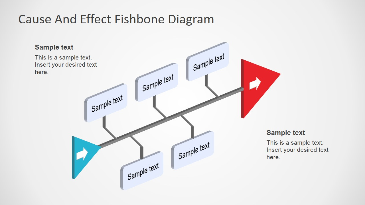Cause And Effect Diagram Fishbone Diagram Template 3d Perspective
