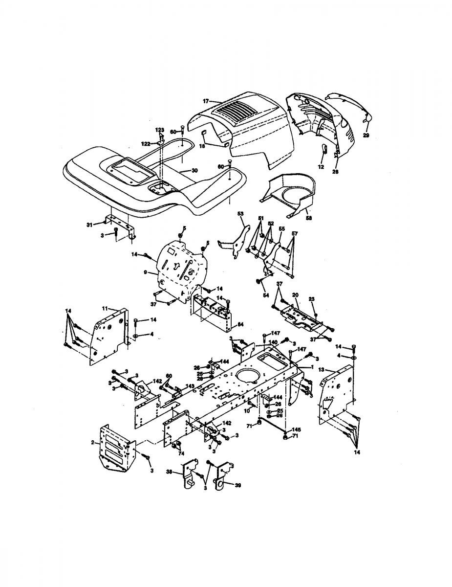 Craftsman Riding Mower Parts Diagram Find The Craftsman Lawn Tractor Parts You Need