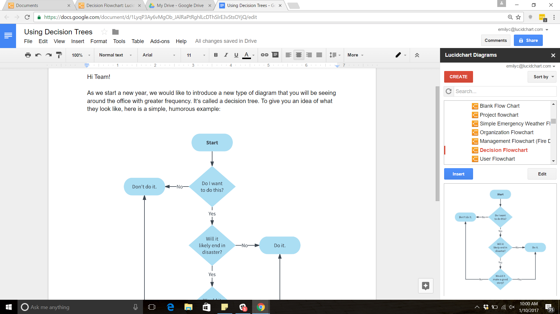 Create A Tree Diagram How To Make A Tree Diagram In Google Docs Lucidchart Blog