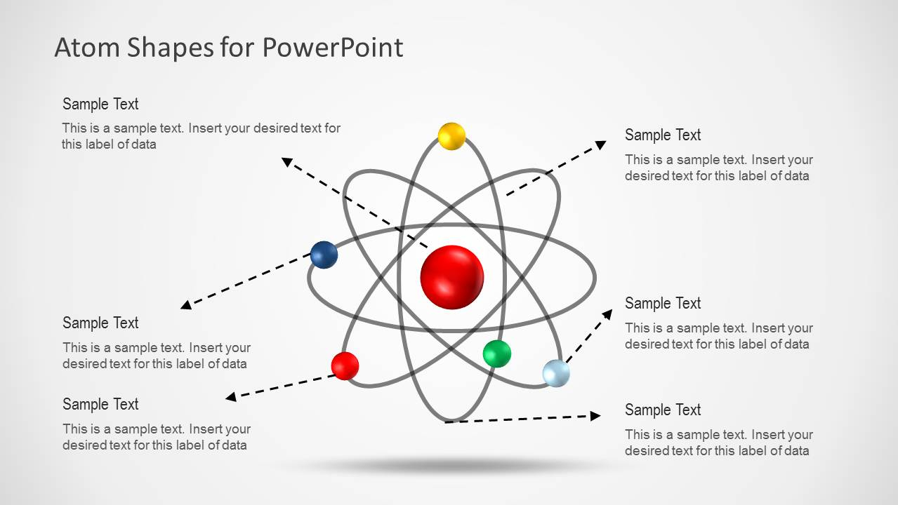 Diagram Of An Atom Atom Shapes For Powerpoint