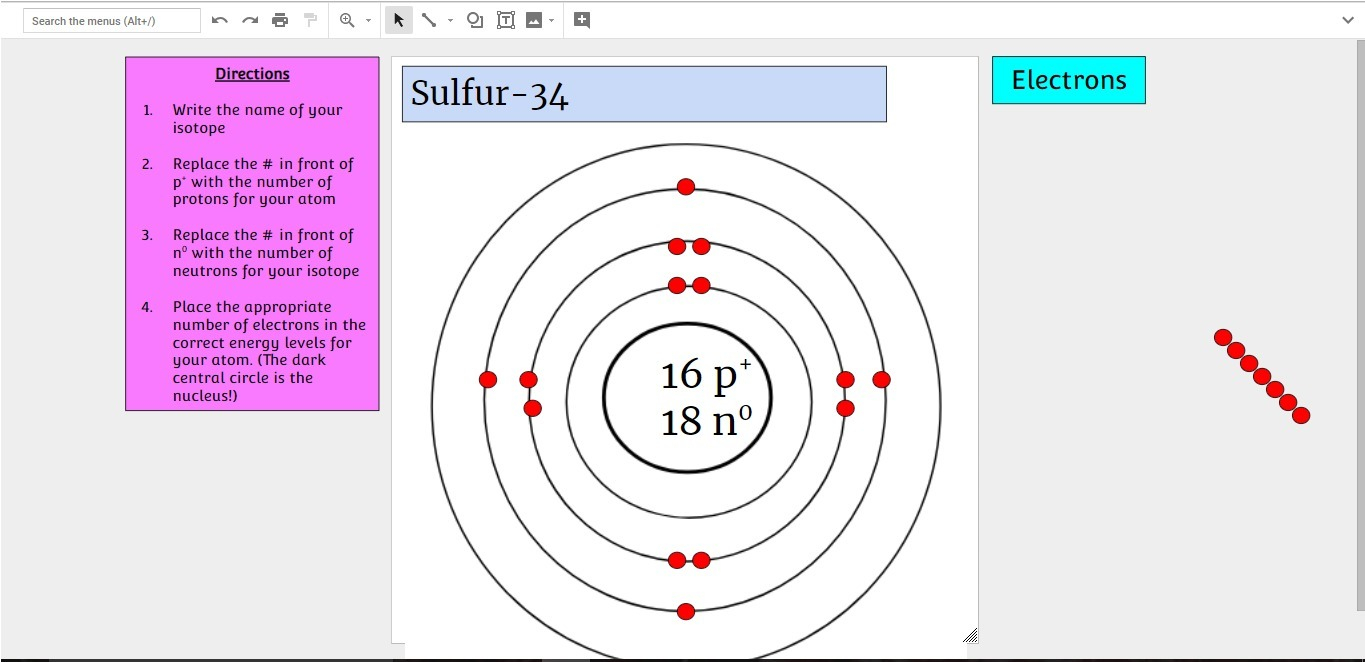 Diagram Of An Atom Modified Bohr Diagram For An Atom Of Sulfur 34 Did I Do It