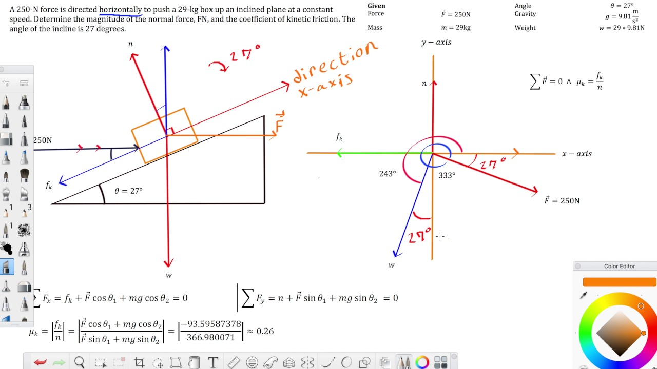 Free Body Diagram Physics Example With Using A Free Body Diagram