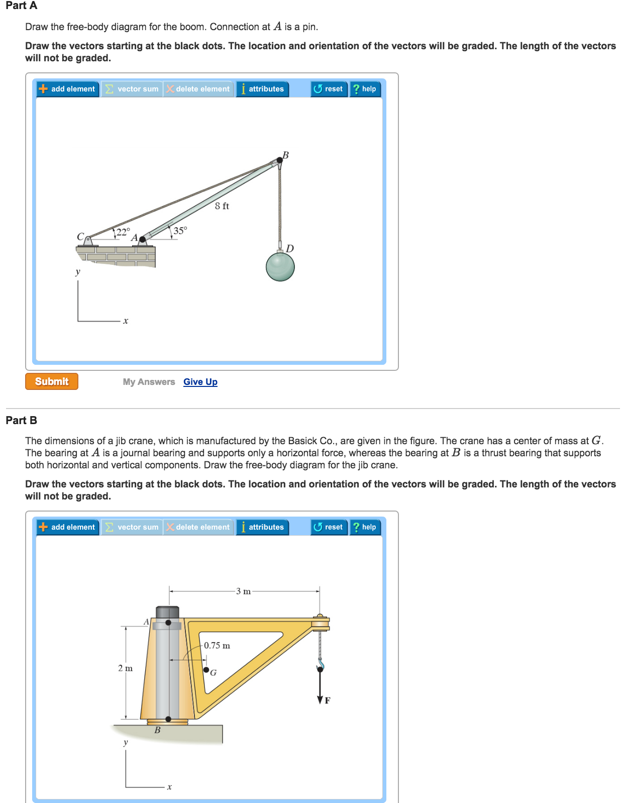 Free Body Diagram Solved Draw The Free Body Diagram For The Boom Connectio