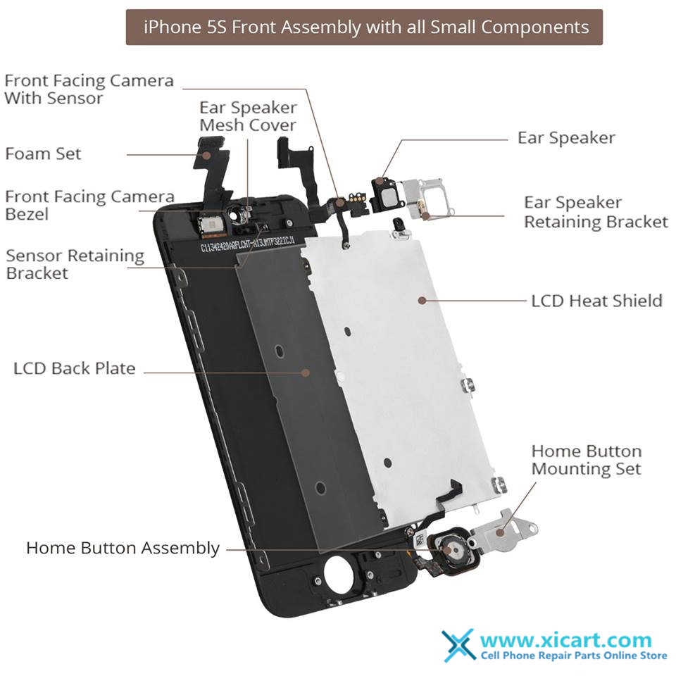 Iphone 5S Parts Diagram Blog Iphone 55c5s6 Lcd Screen Assembly Full Front With All