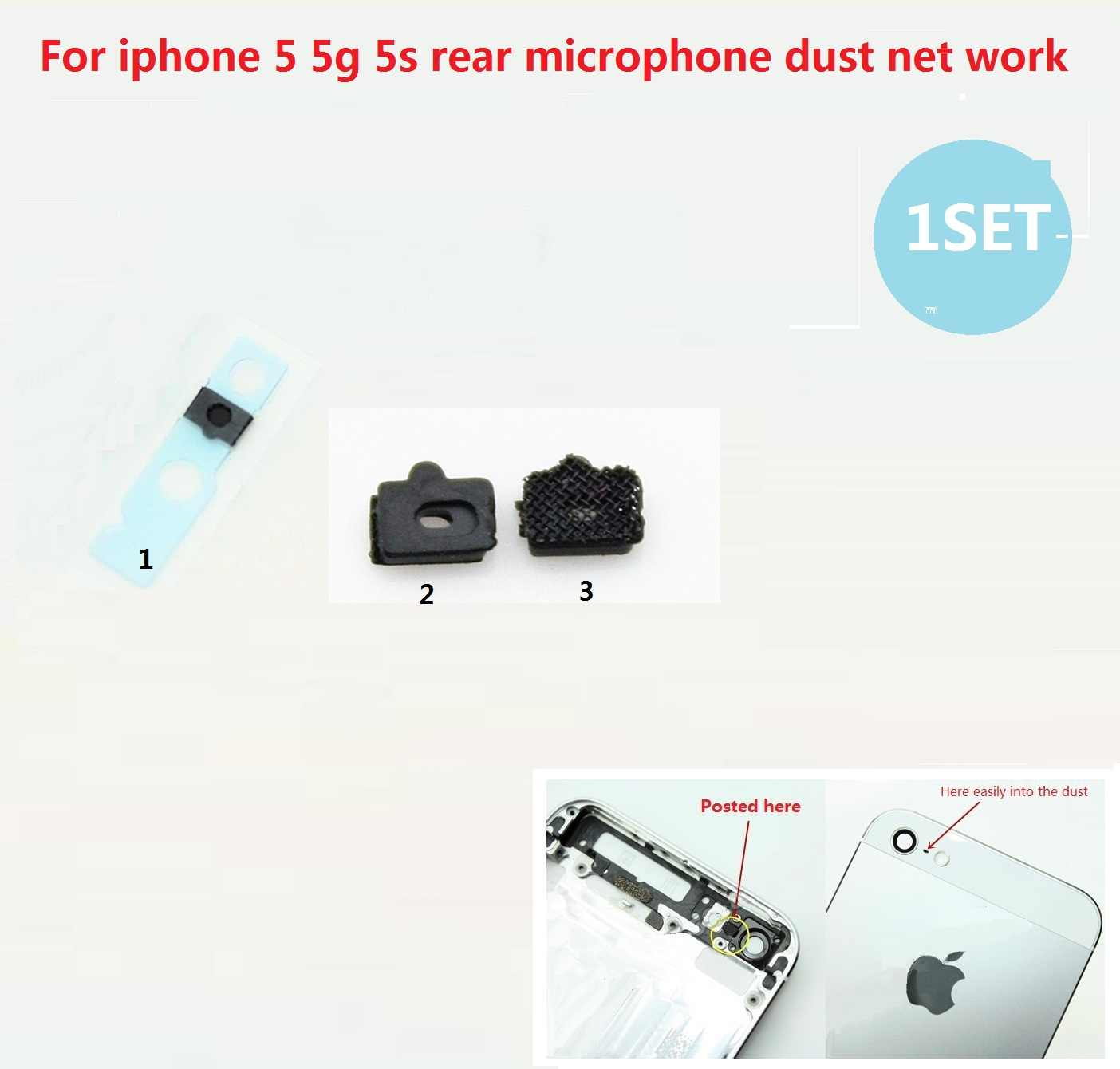 Iphone 5S Parts Diagram Detail Feedback Questions About Rear Microphone Dust Network For