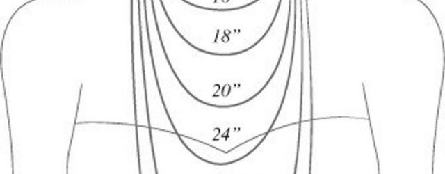 Necklace Length Diagram Necklace Length Chart