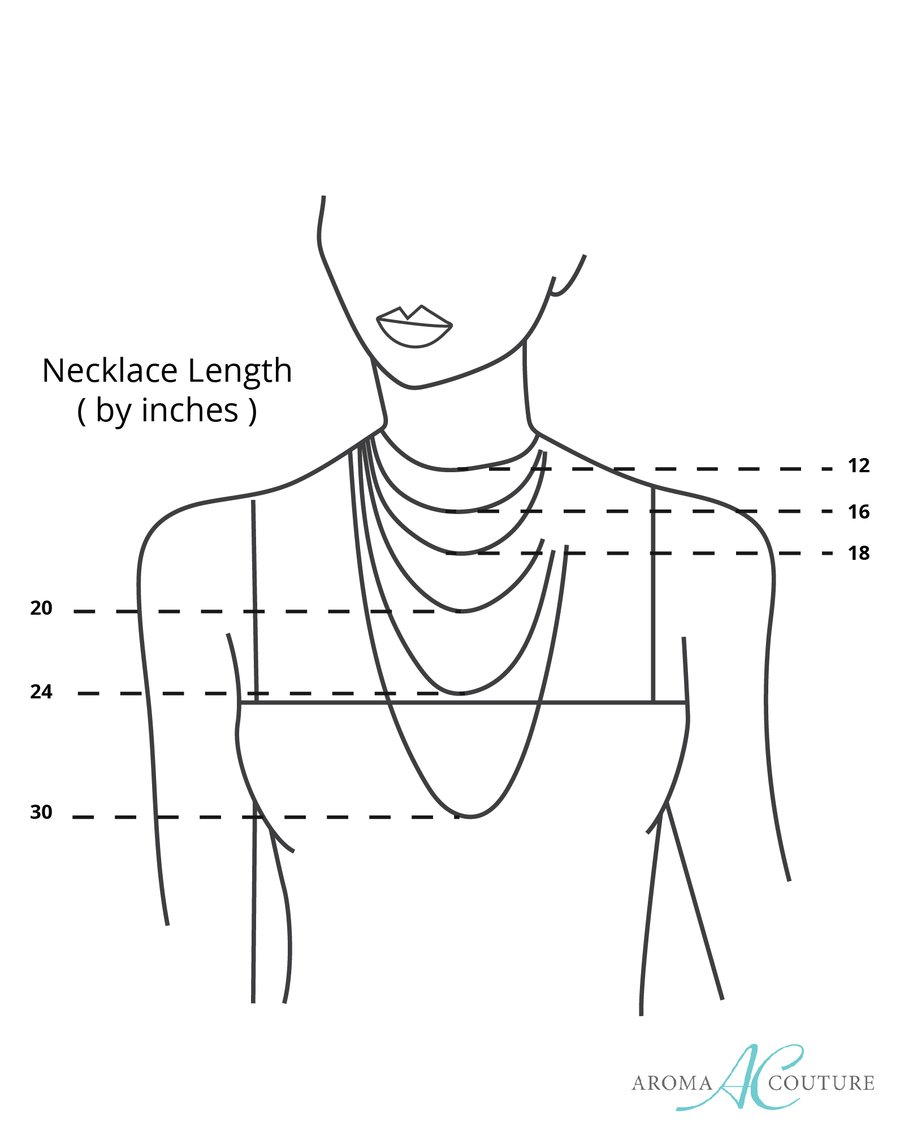 Necklace Length Diagram Necklace Length Chart Epclevittown
