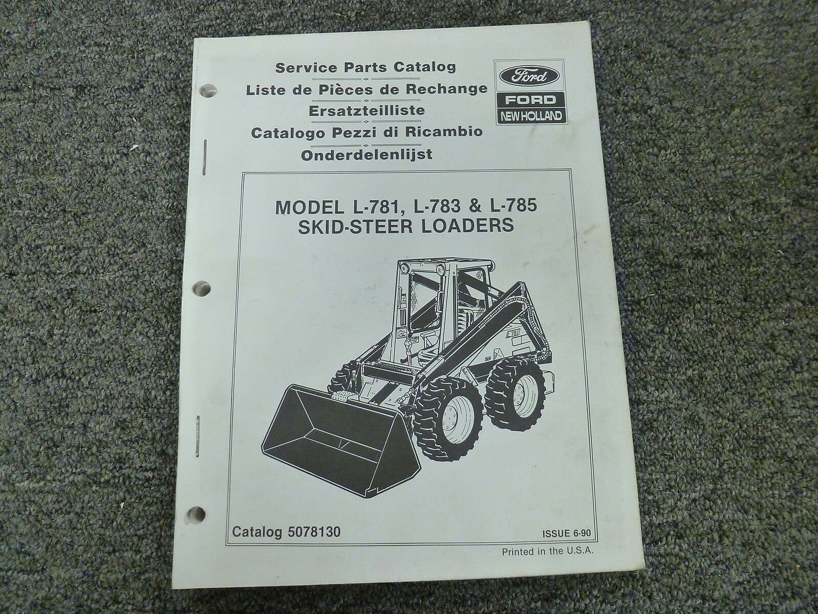 New Holland Skid Steer Parts Diagram Ford New Holland L781 L783 L785 Skid Steer Loader Parts Catalog Manual Book 14895