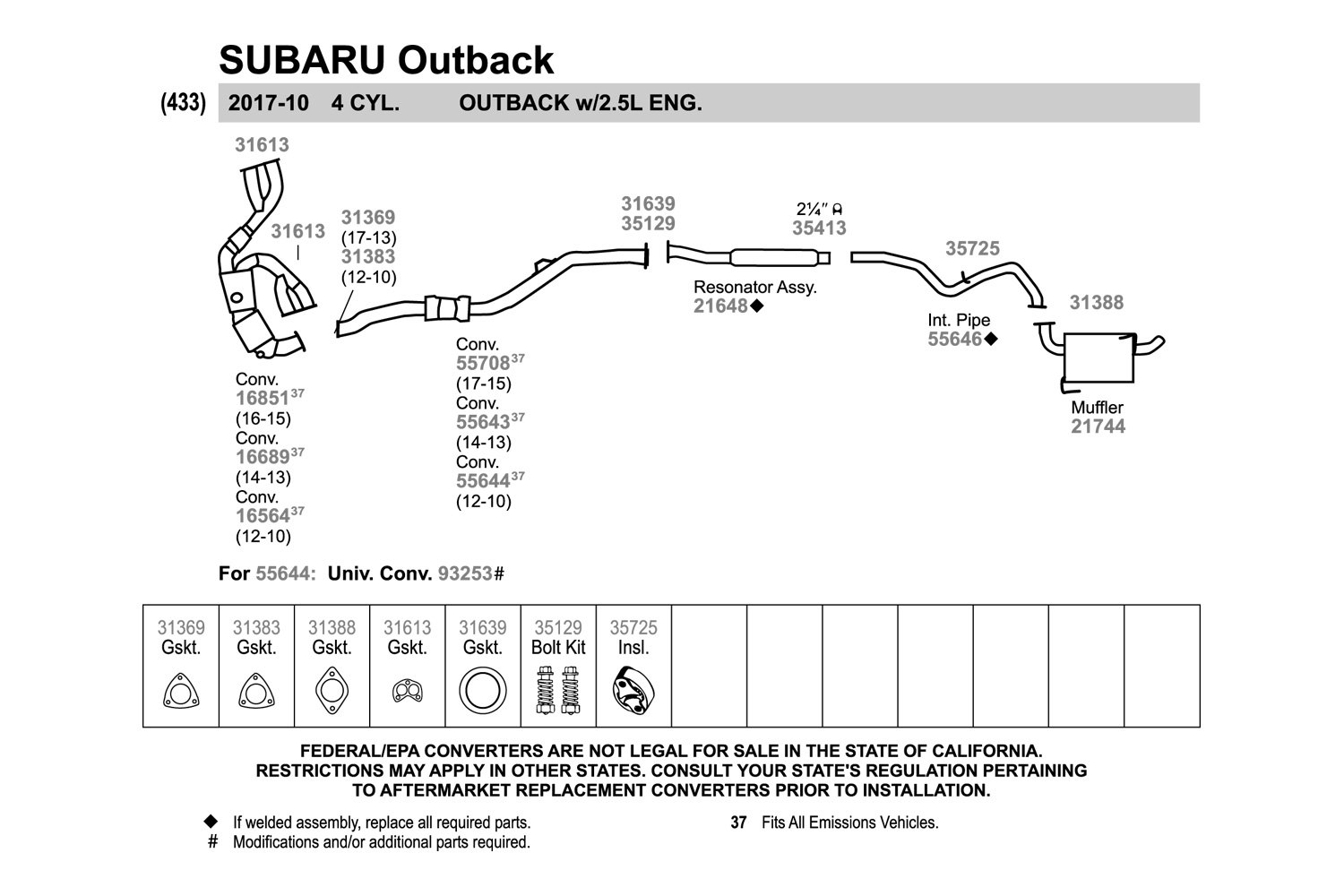 34 2002 Subaru Outback Exhaust Diagram