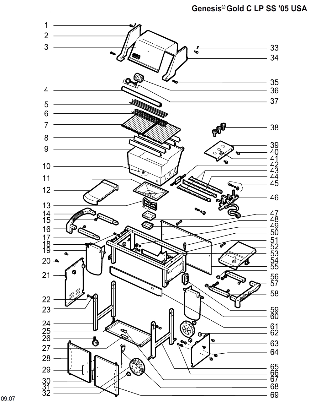 Weber Genesis Parts Diagram Free Shipping Returns On Orders 50 More Info Close