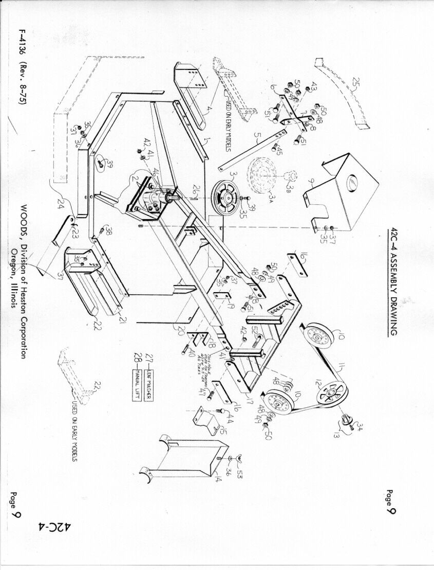 Woods Mower Parts Diagrams Woods 42 Mower Farmall Cub