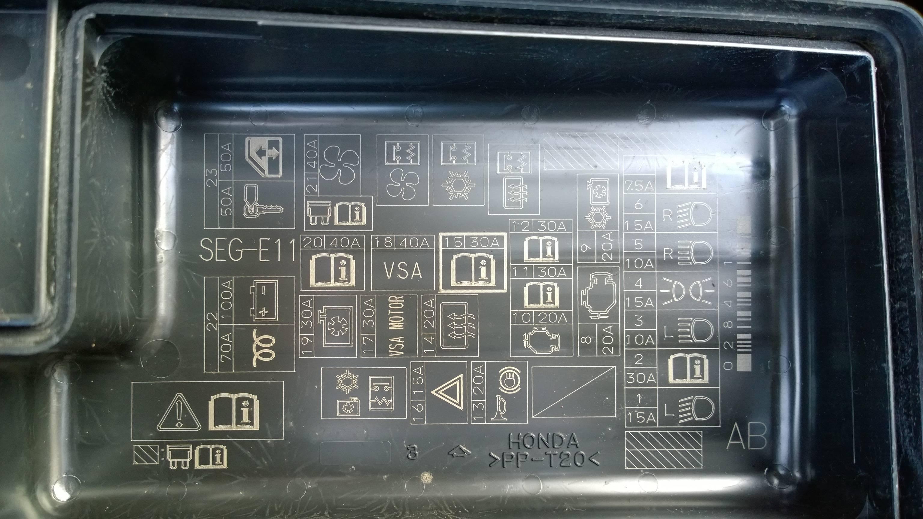 2005 Honda Accord Fuse Box Diagram 2005 Accord Fuse Box Wiring Diagram Information