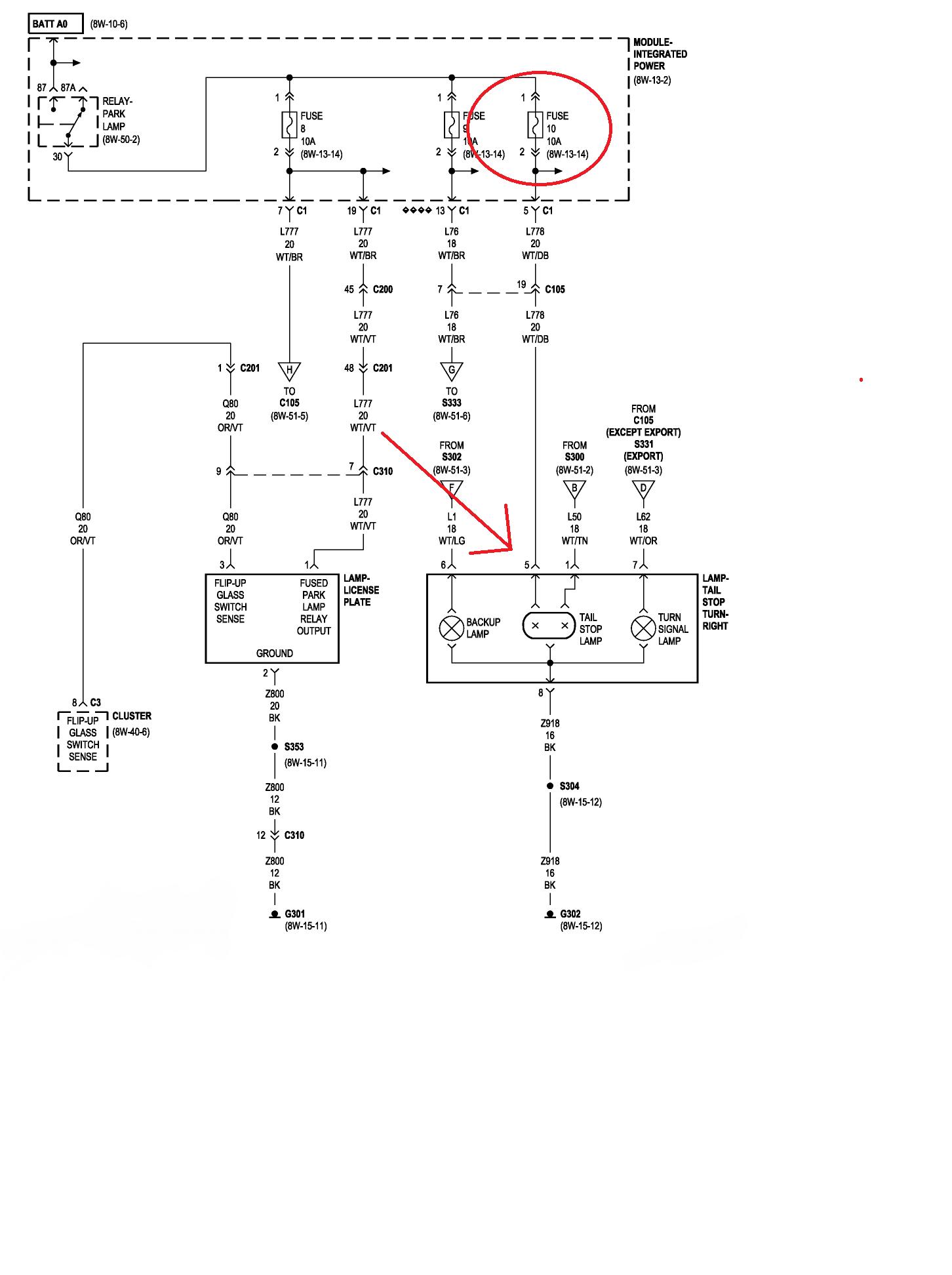 2005 Jeep Grand Cherokee Fuse Diagram Jeep Grand Cherokee Questions Right Tail Light Fuse Diagram Jeep