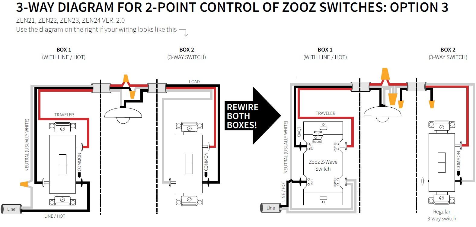 3 Way Wiring Diagram 3 Way Diagrams For Zen21 Zen22 Zen23 And Zen24 Ver 20 30