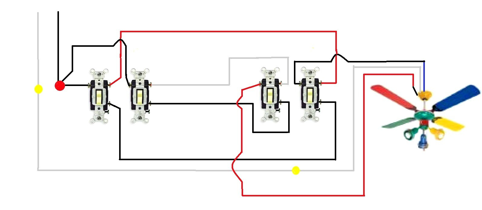3 Way Wiring Diagram 3 Way Fan Wiring Wiring Diagram Sessions