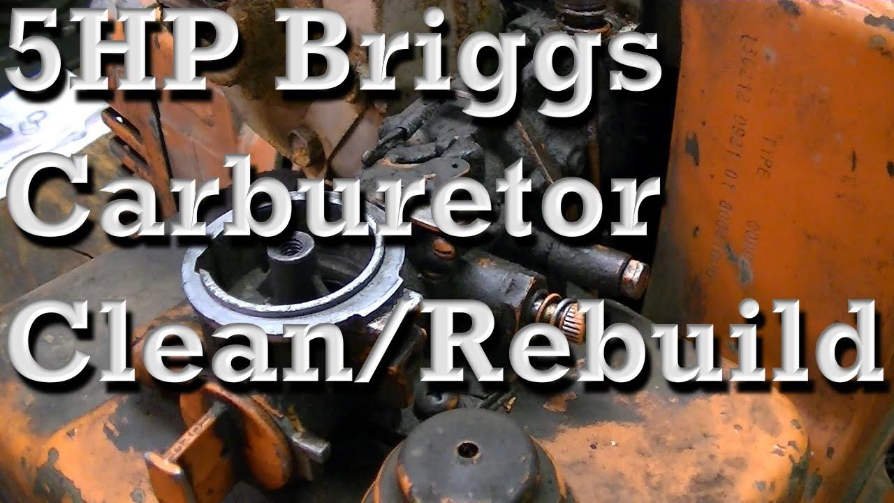 5Hp Briggs And Stratton Carburetor Diagram 5hp Briggs And Stratton Carburetor Clean And Rebuild Pull Choke Type