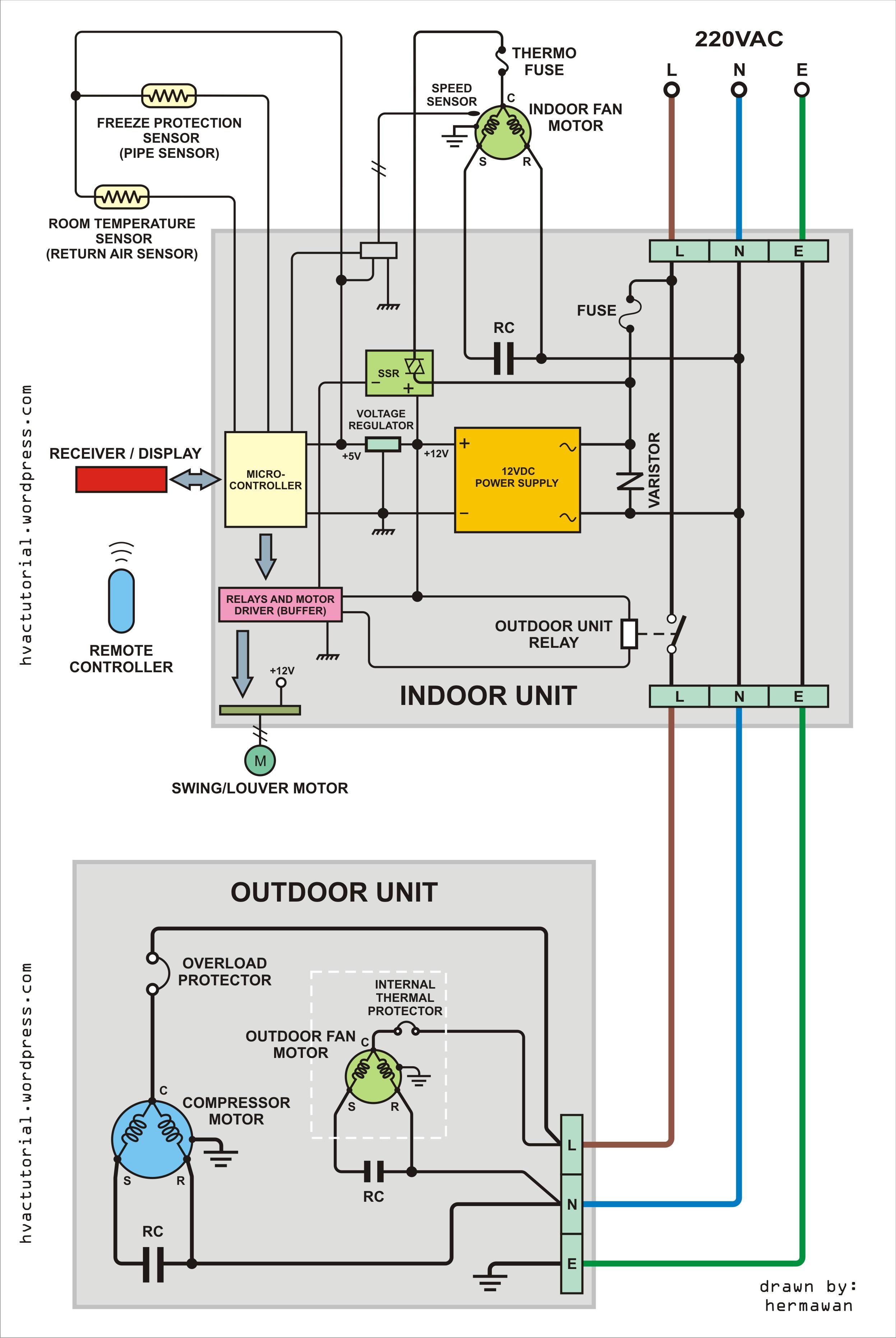 Air Conditioner Wiring Diagram Pdf Air Conditioning Schematic Diagram Wiring Diagram Local