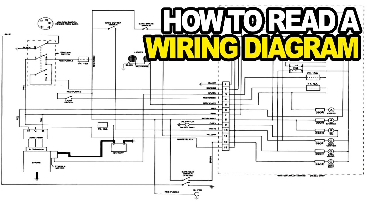 Automotive Wiring Diagrams How To Read An Electrical Wiring Diagram