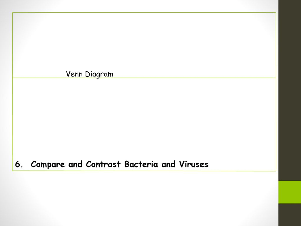 Bacteria And Virus Venn Diagram Epidemiology Microbes And Disease Ppt Download