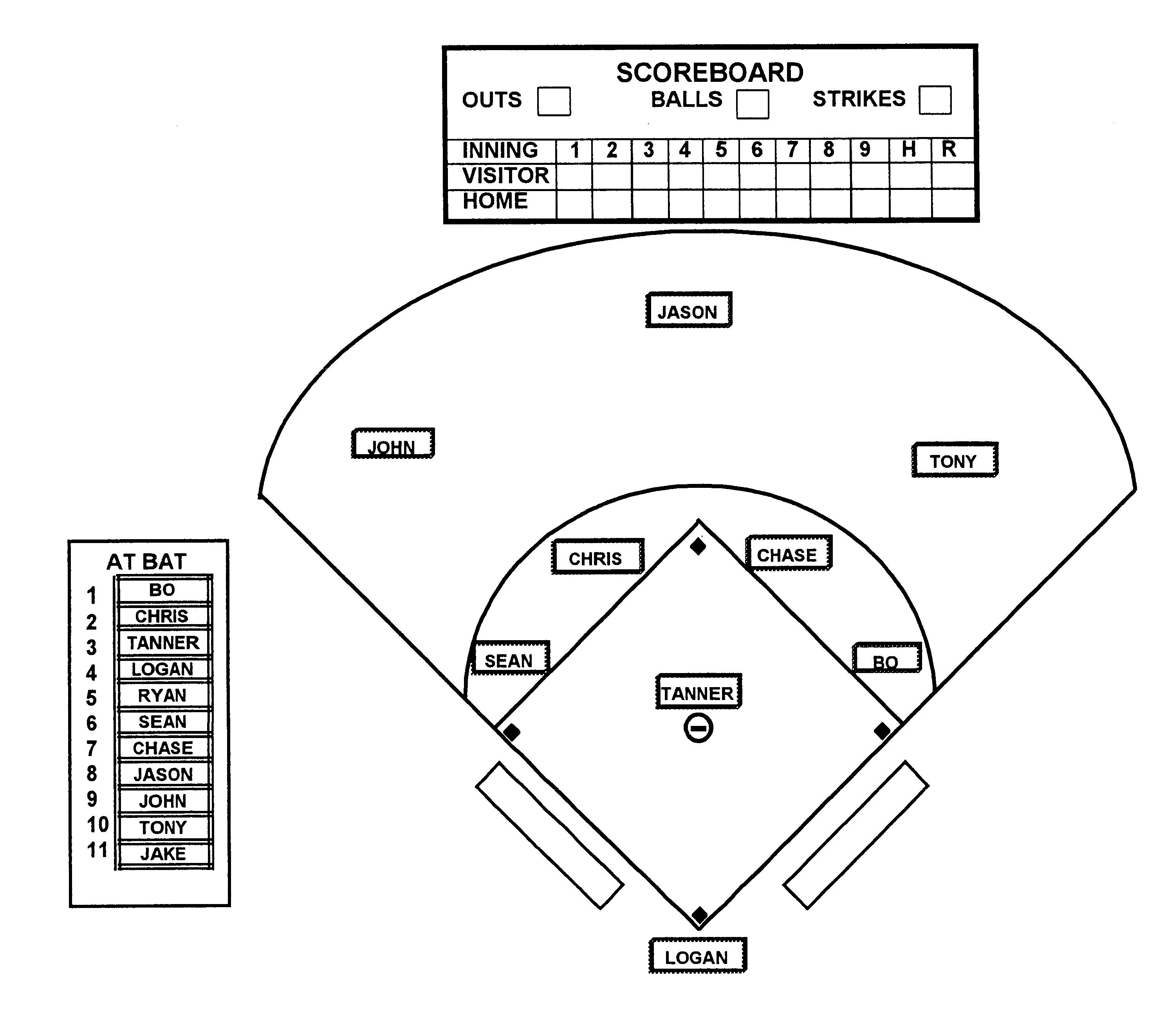 Baseball Field Diagram 26 Images Of Baseball Field Template Pdf Zeept
