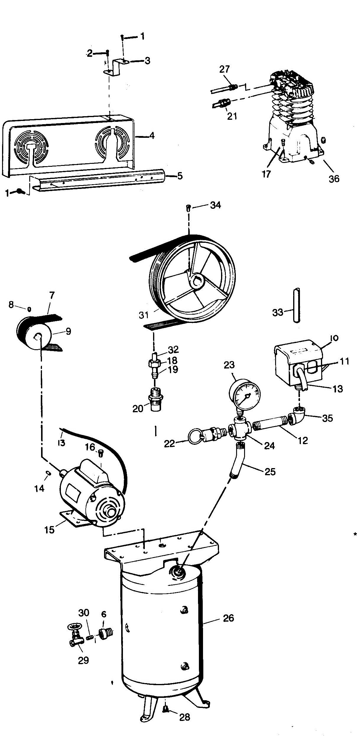 Campbell Hausfeld Air Compressor Parts Diagram Campbell Hausfeld Vt558704 Parts Master Tool Repair