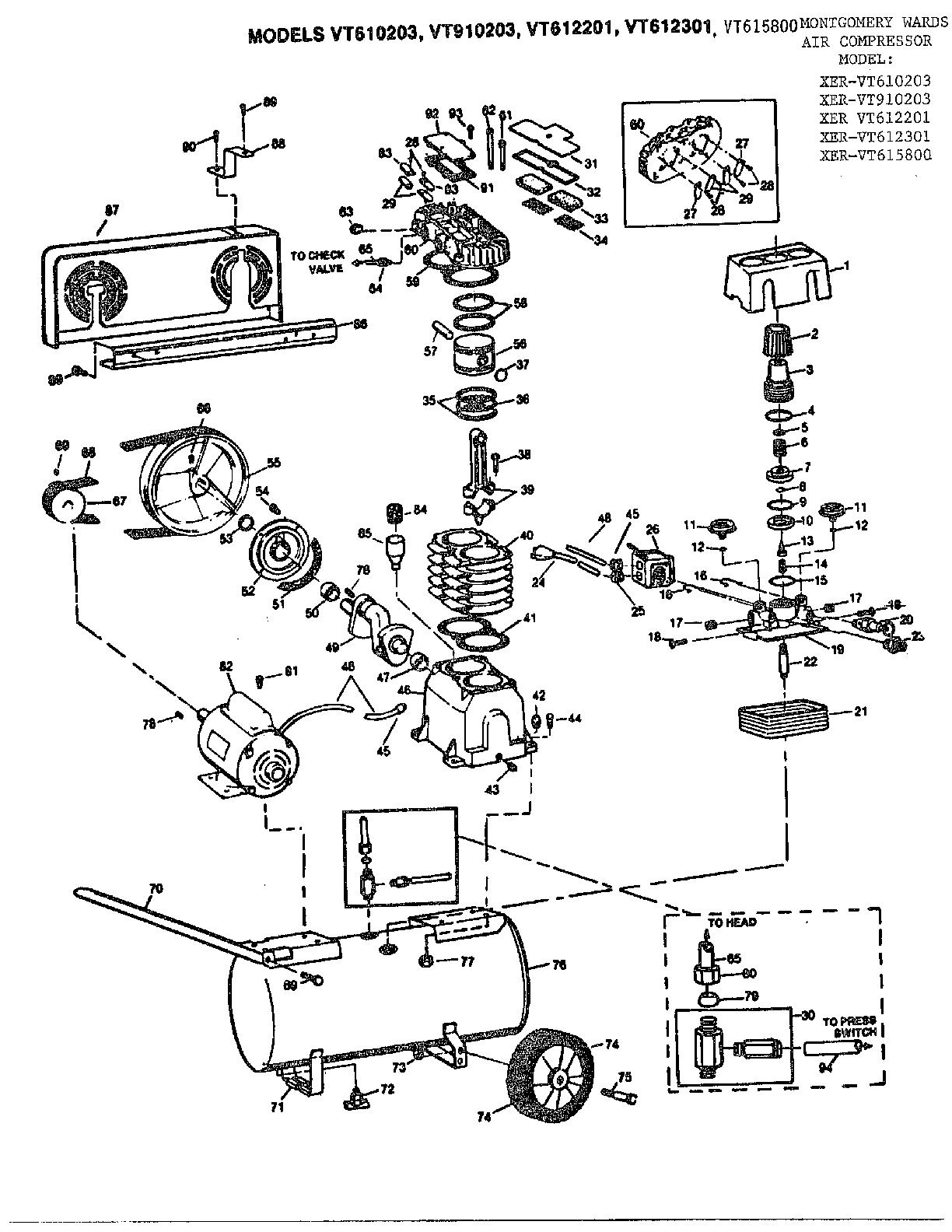Campbell Hausfeld Air Compressor Parts Diagram Looking For Campbell Hausfeld Model Vt615800 Air Compressor Repair
