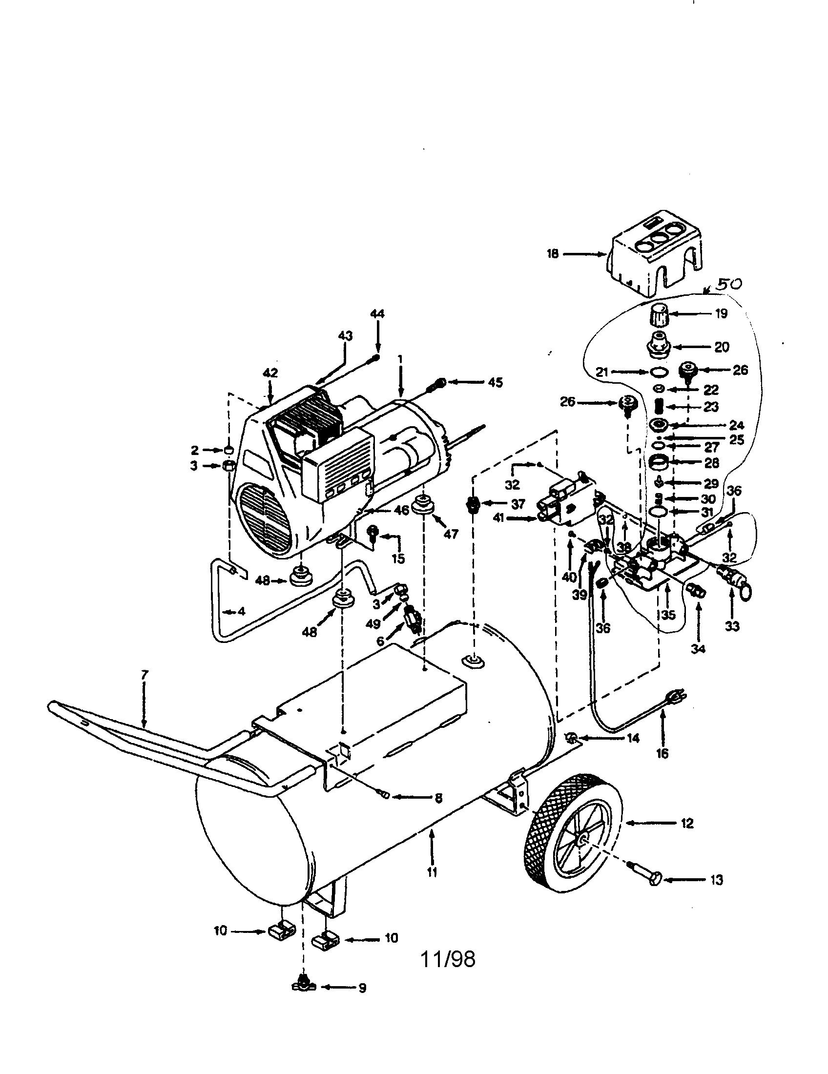 Campbell Hausfeld Air Compressor Parts Diagram Looking For Campbell Hausfeld Model Wl600605 Air Compressor Repair