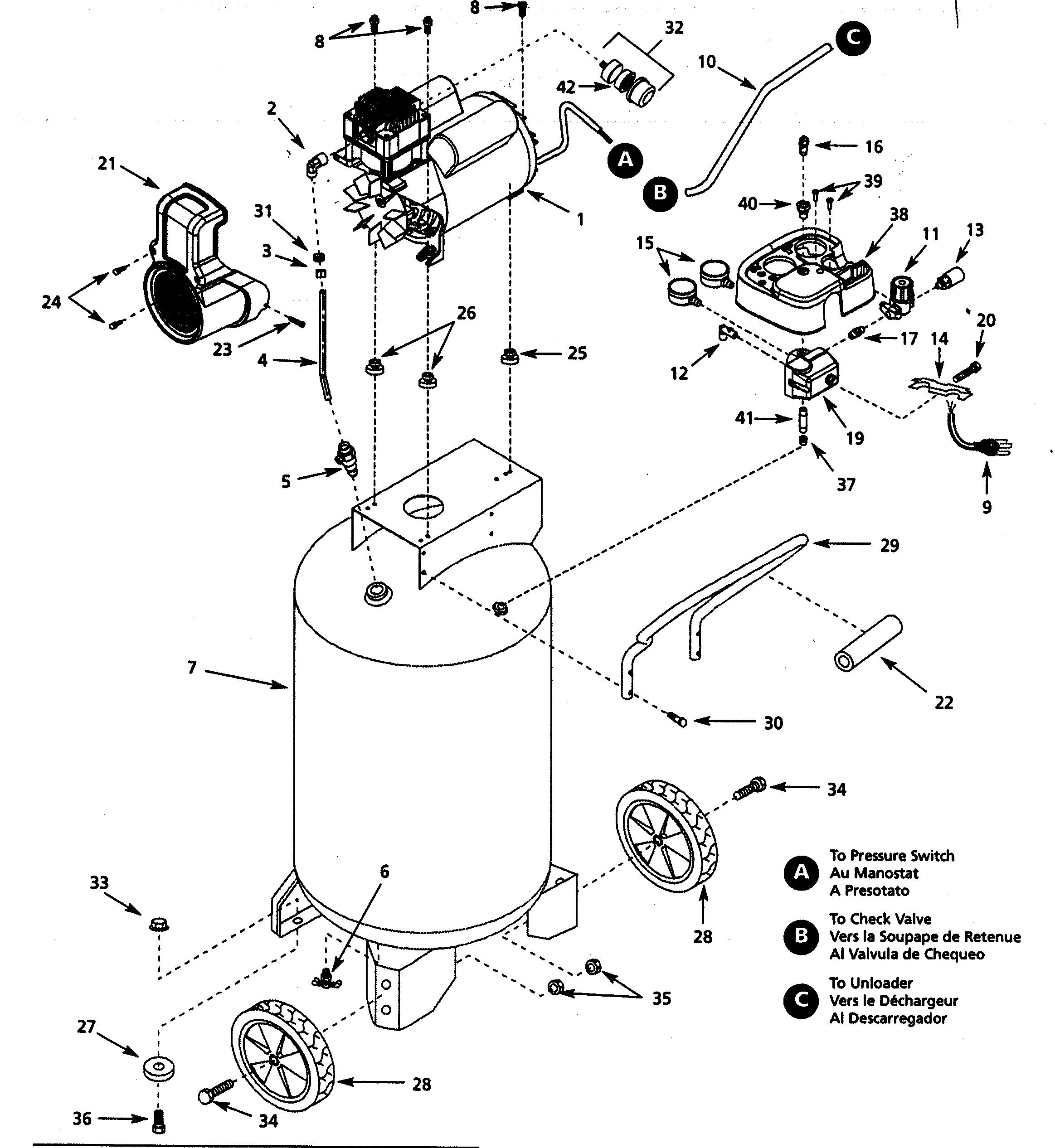 Campbell Hausfeld Air Compressor Parts Diagram Looking For Campbell Hausfeld Model Wl6117 Air Compressor Repair