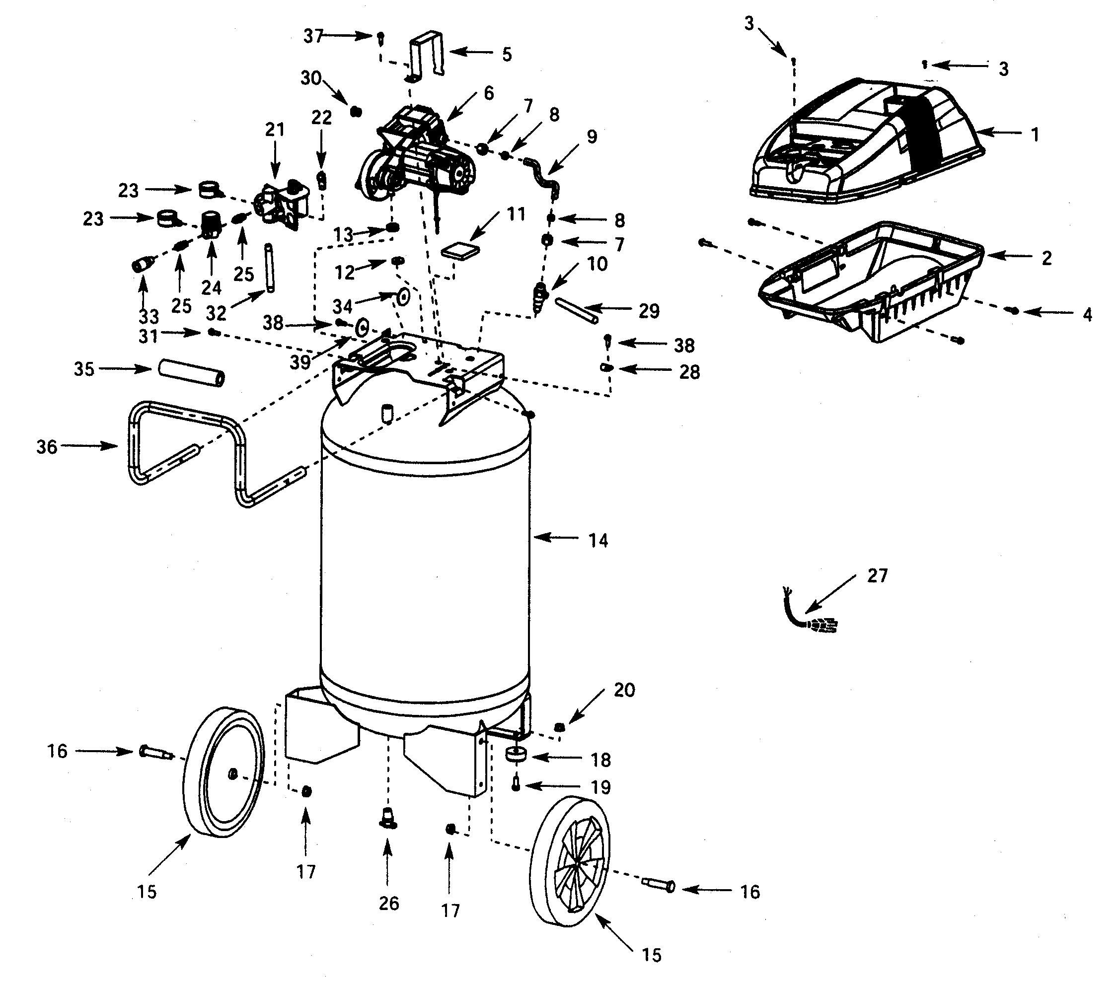 Campbell Hausfeld Air Compressor Parts Diagram Looking For Campbell Hausfeld Model Wl660003 Air Compressor Repair