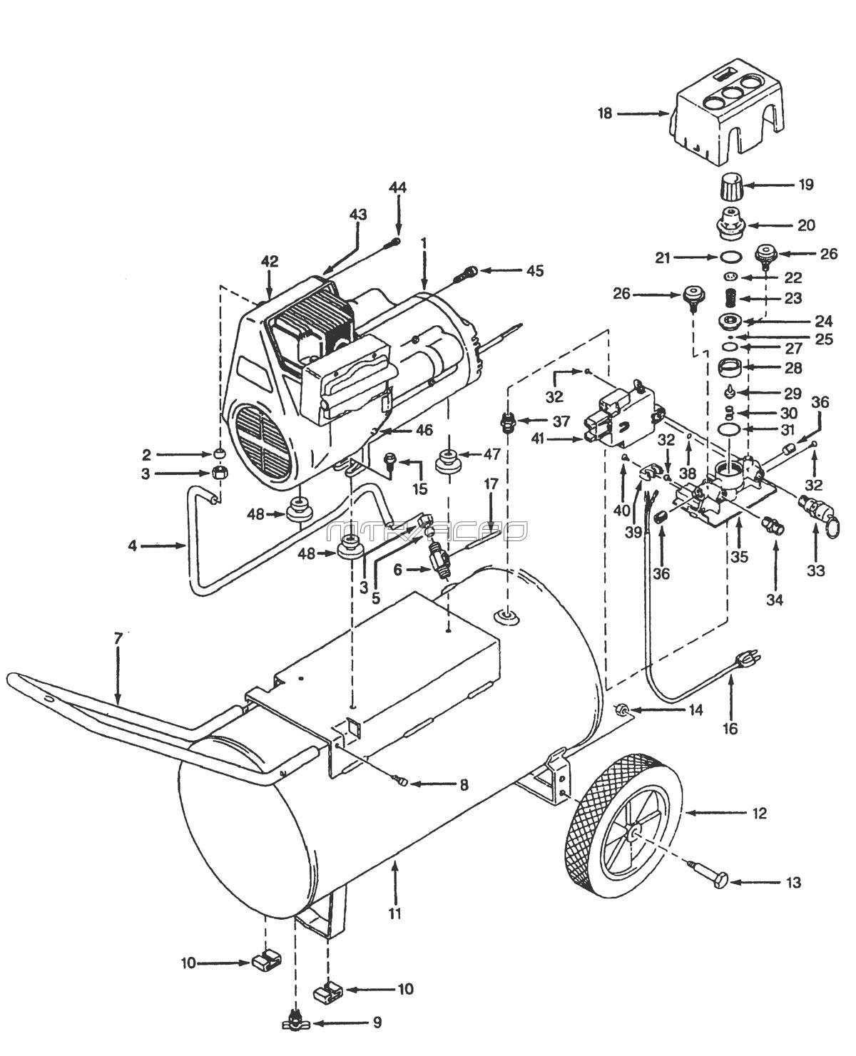 Campbell Hausfeld Air Compressor Parts Diagram Repair Parts For The Campbell Hausfeld Models Wl600601 Wl600701
