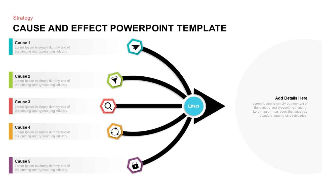 Cause And Effect Diagram Template Cause And Effect Powerpoint Template Slidebazaar