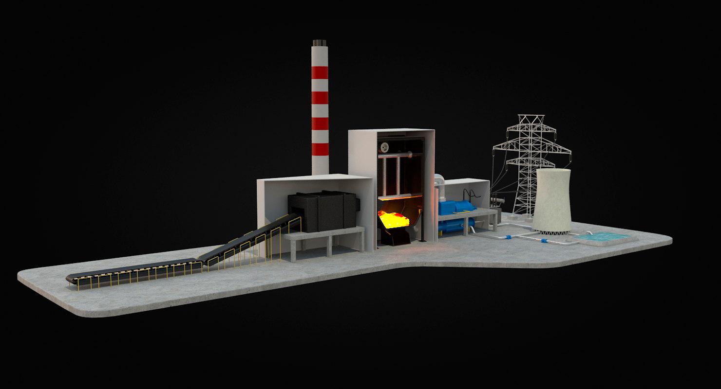 Coal Power Plant Diagram