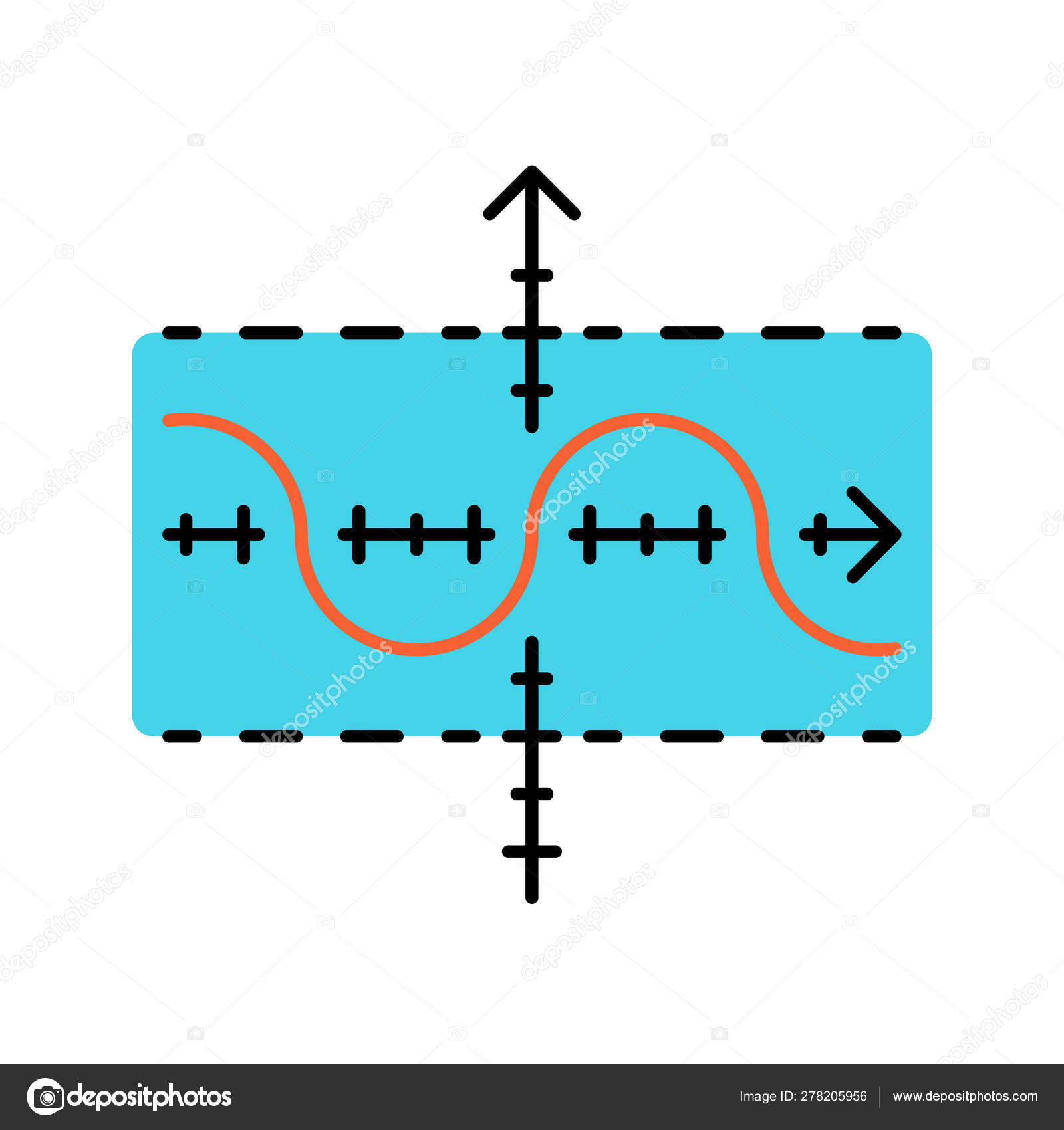 Diagram In Math Function Graph Color Icon Duplicate Function Sinusoid Sine Curve