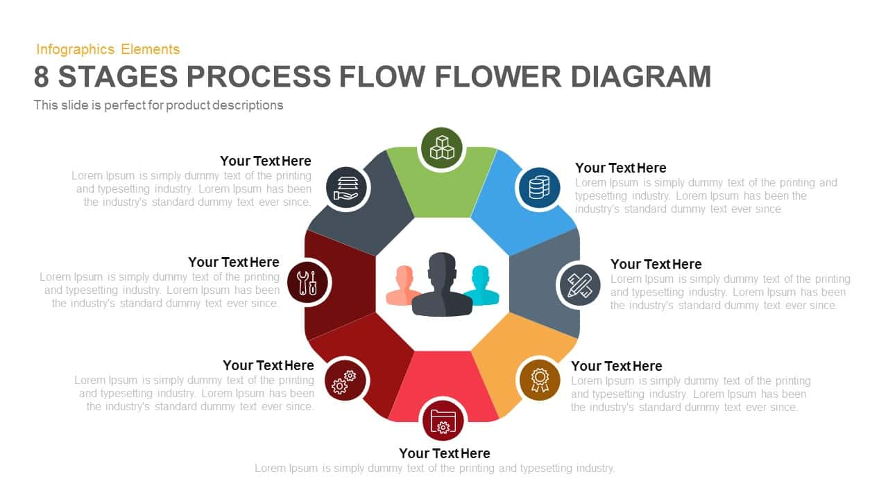Diagram Of A Flower 8 Stages Flower Process Flow Diagram Powerpoint Template Keynote
