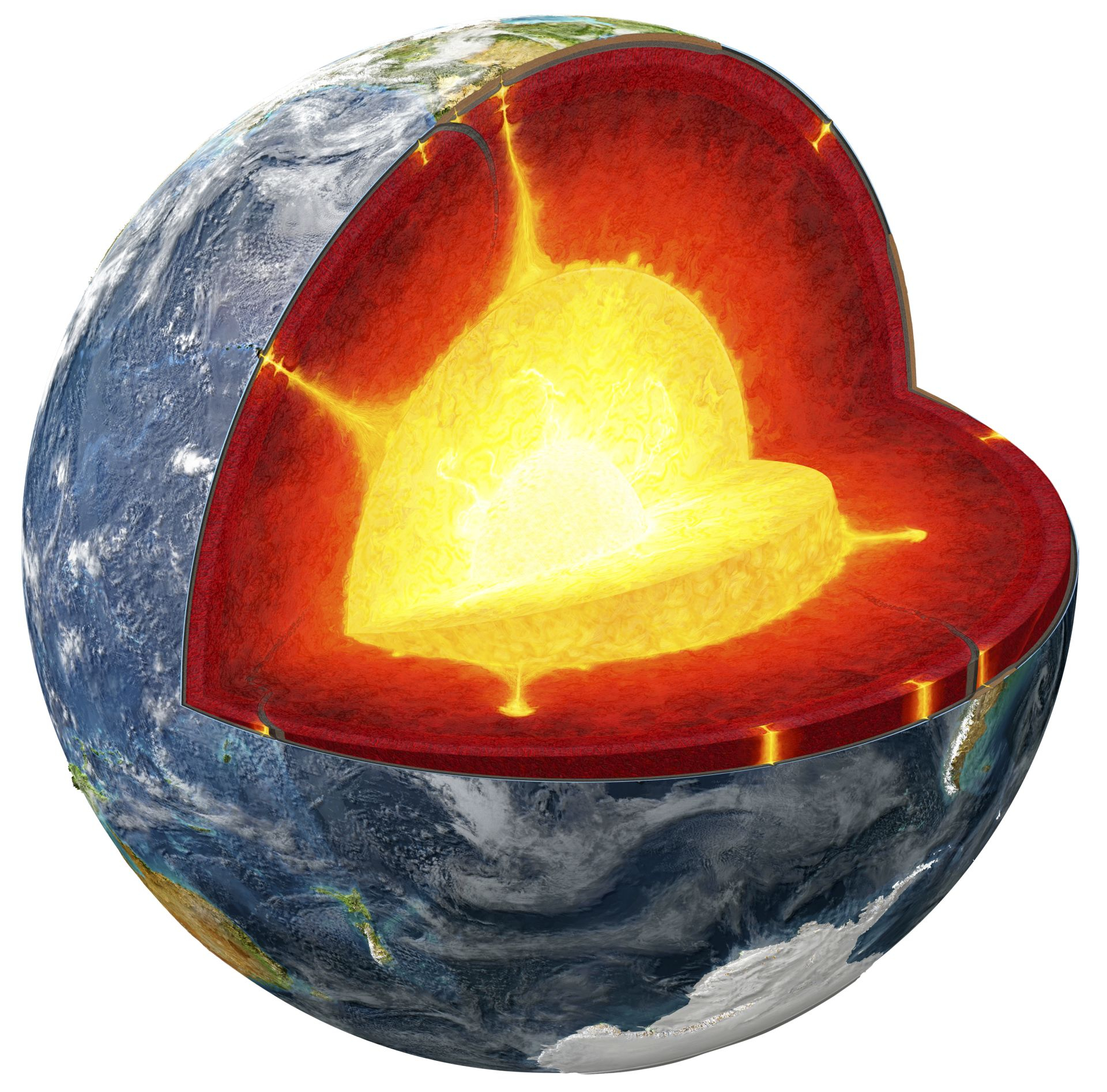 Diagram Of The Earth's Layers Earths Layers Inside The Earth Dk Find Out
