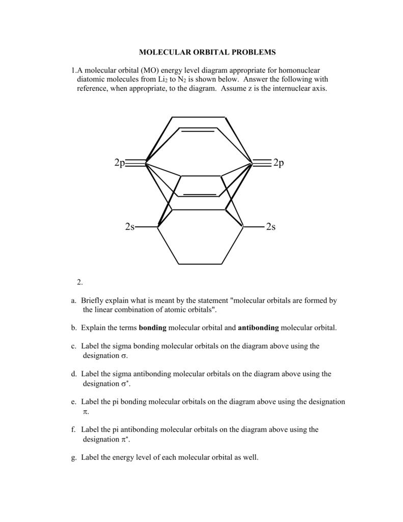 Energy Level Diagram A Molecular Orbital Mo Energy Level Diagram Parkway C 2