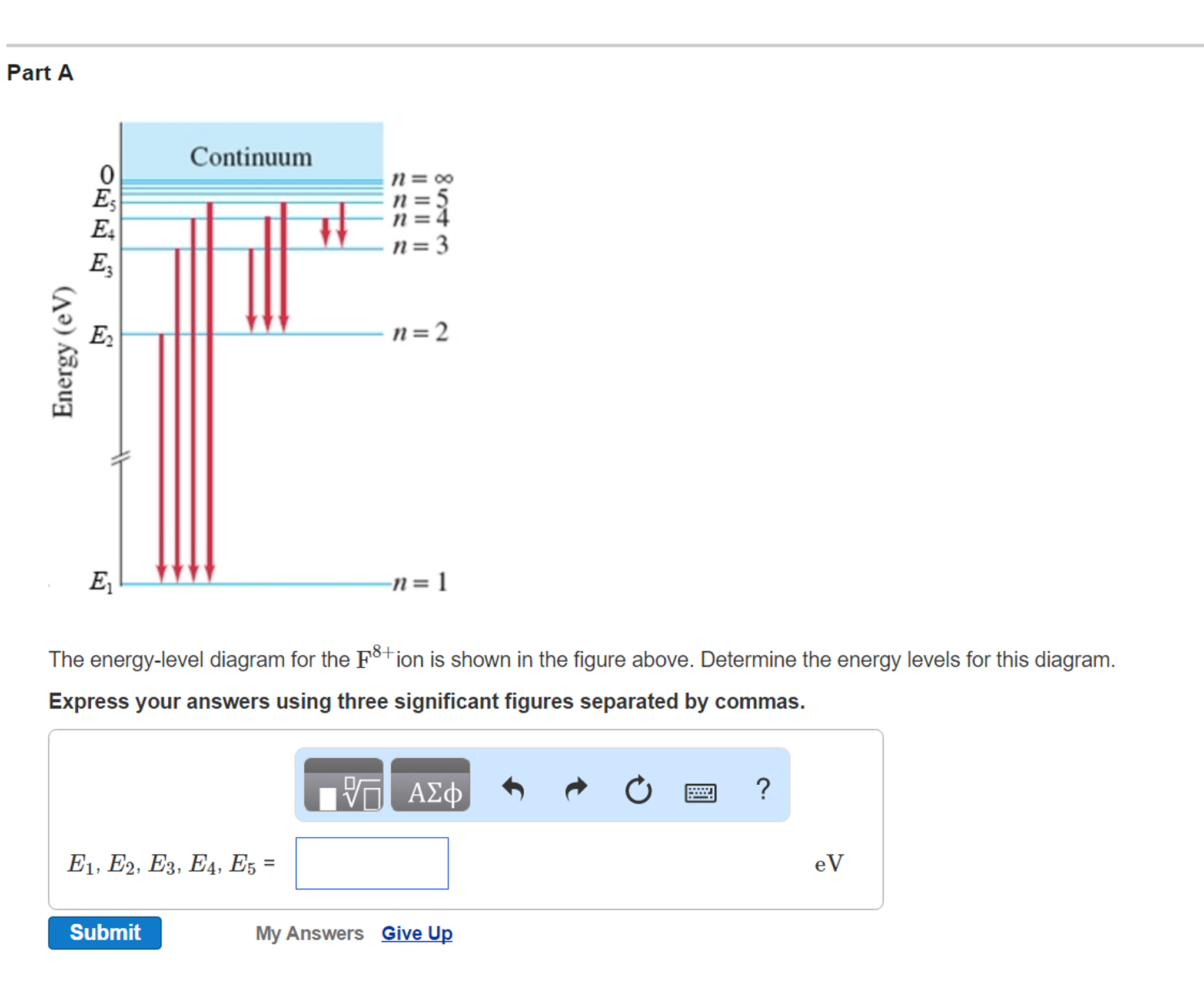 Energy Level Diagram Solved The Energy Level Diagram For The F8ion Is Shown I