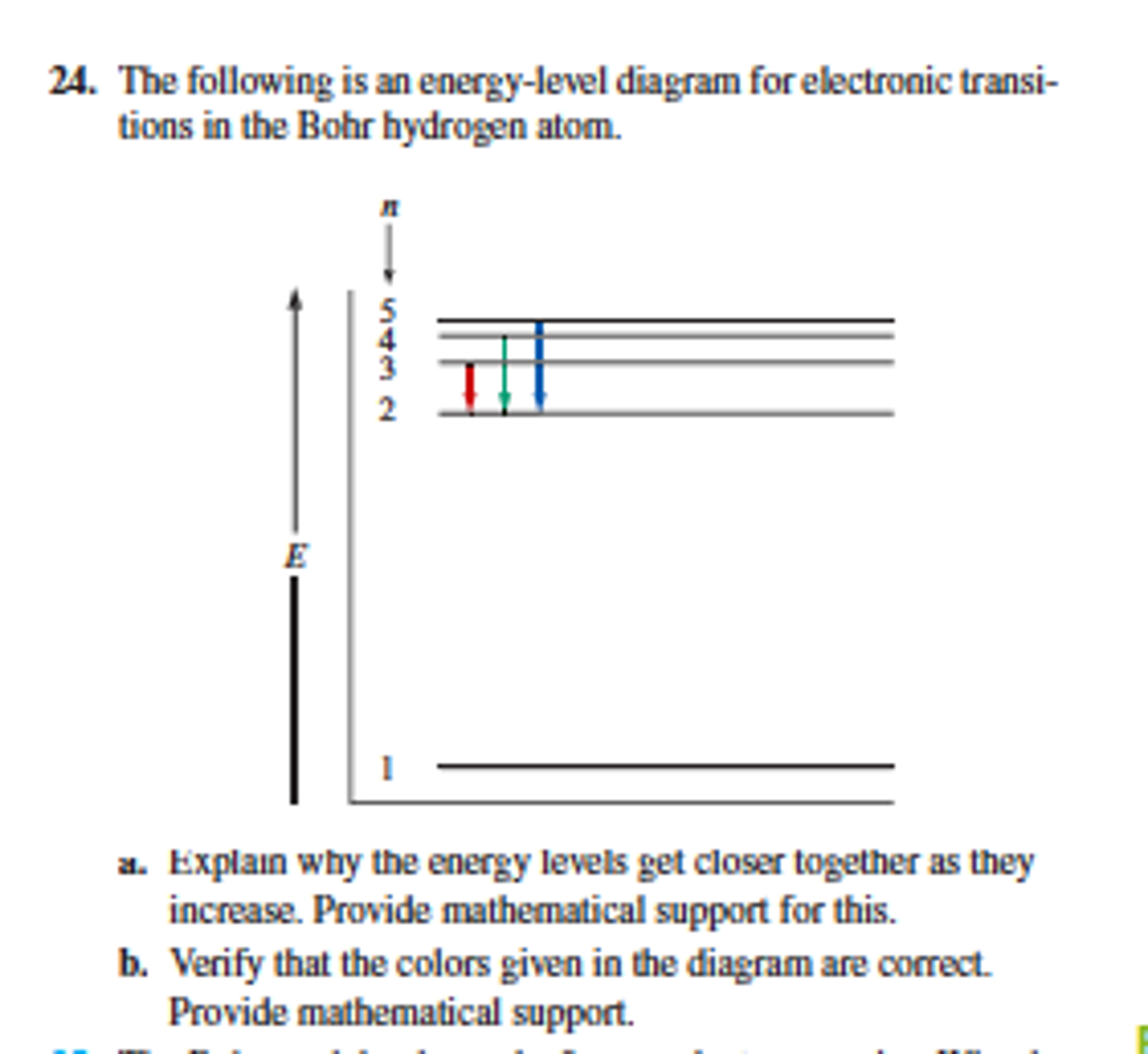 Energy Level Diagram Solved The Following Is An Energy Level Diagram For Elect