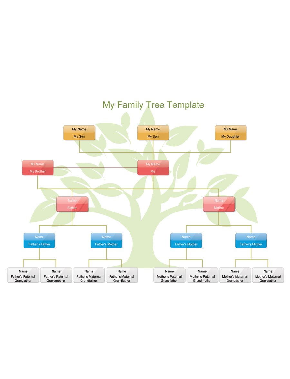 Family Tree Diagram 50 Free Family Tree Templates Word Excel Pdf Template Lab