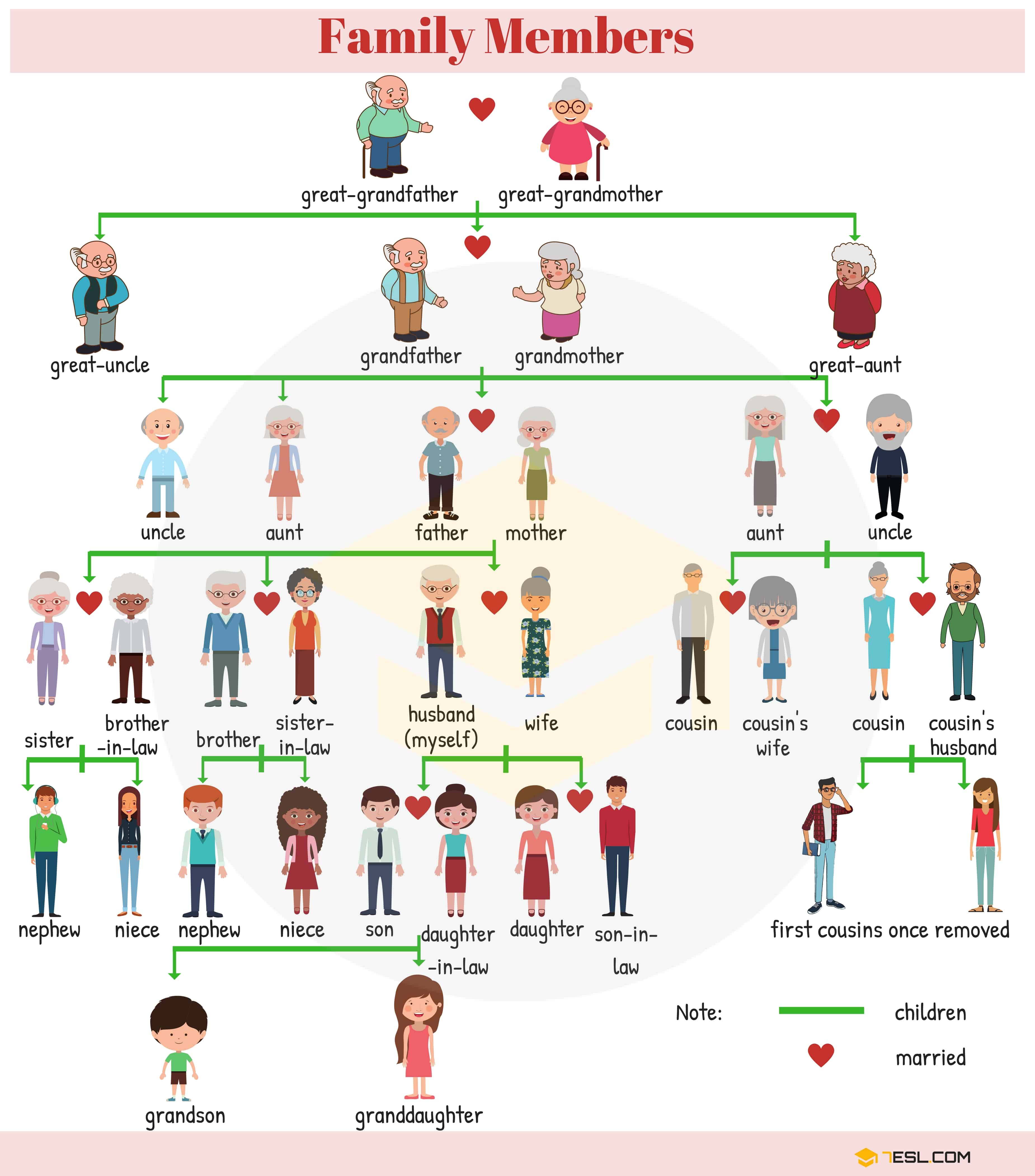 Family Tree Diagram Family Relationship Chart Useful Family Tree Chart With Family