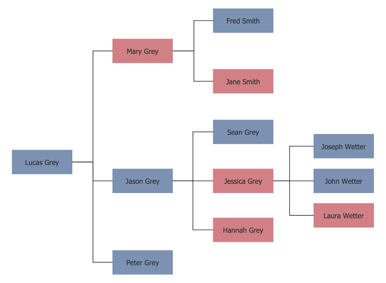 Family Tree Diagram Family Tree Solution Conceptdraw