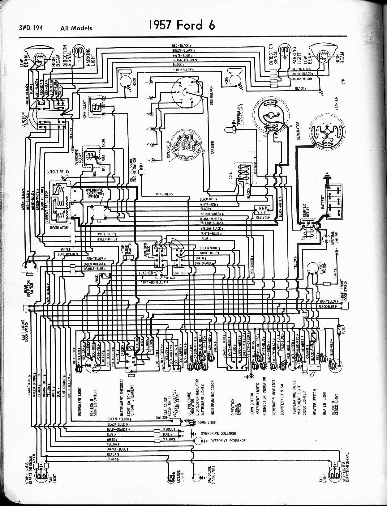 Ford Wiring Diagrams Wrg 7511 1961 Ford Generator Wiring Diagram
