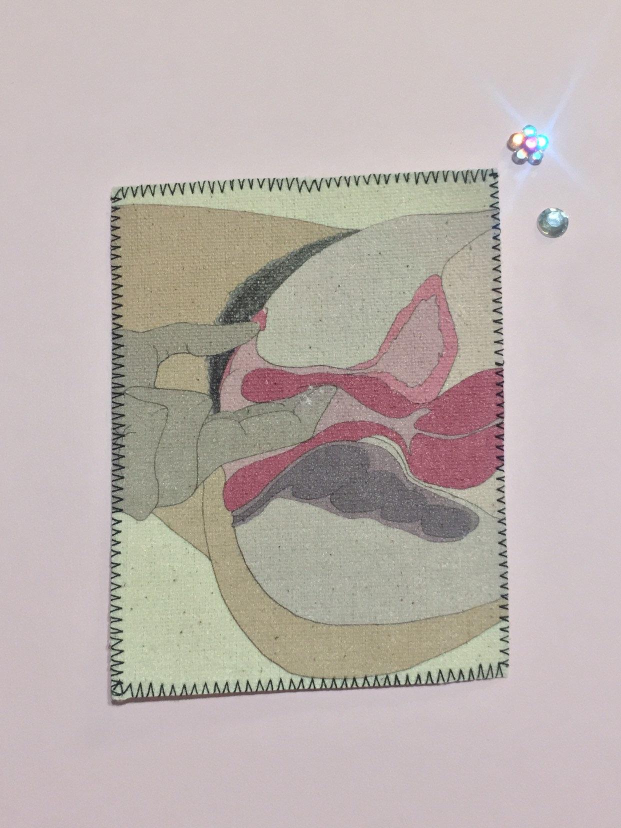 G Spot Diagram G Spot Diagram Canvas Patch