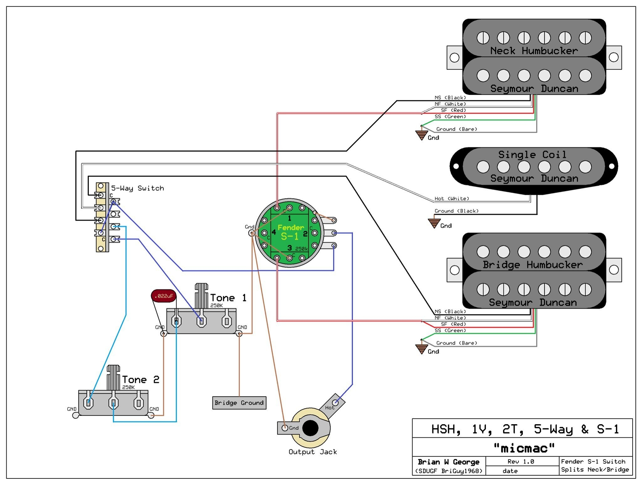 Guitar Wiring Diagrams Guitar Wiring For Dummies Free As Well As Fender Humbucker Wiring
