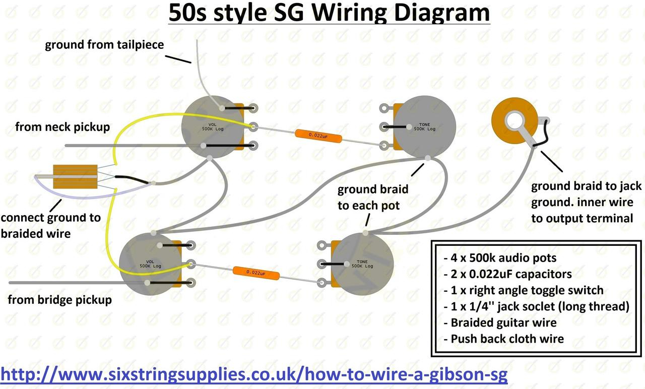 Guitar Wiring Diagrams Wiring Diagram For Gibson Sg Wiring Diagram Directory