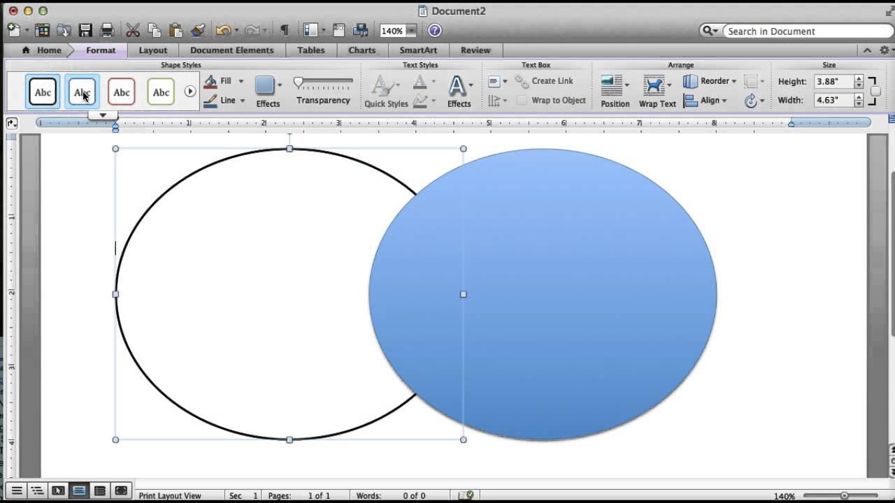 How To Create A Venn Diagram In Word Making A Venn Diagram Word For Mac