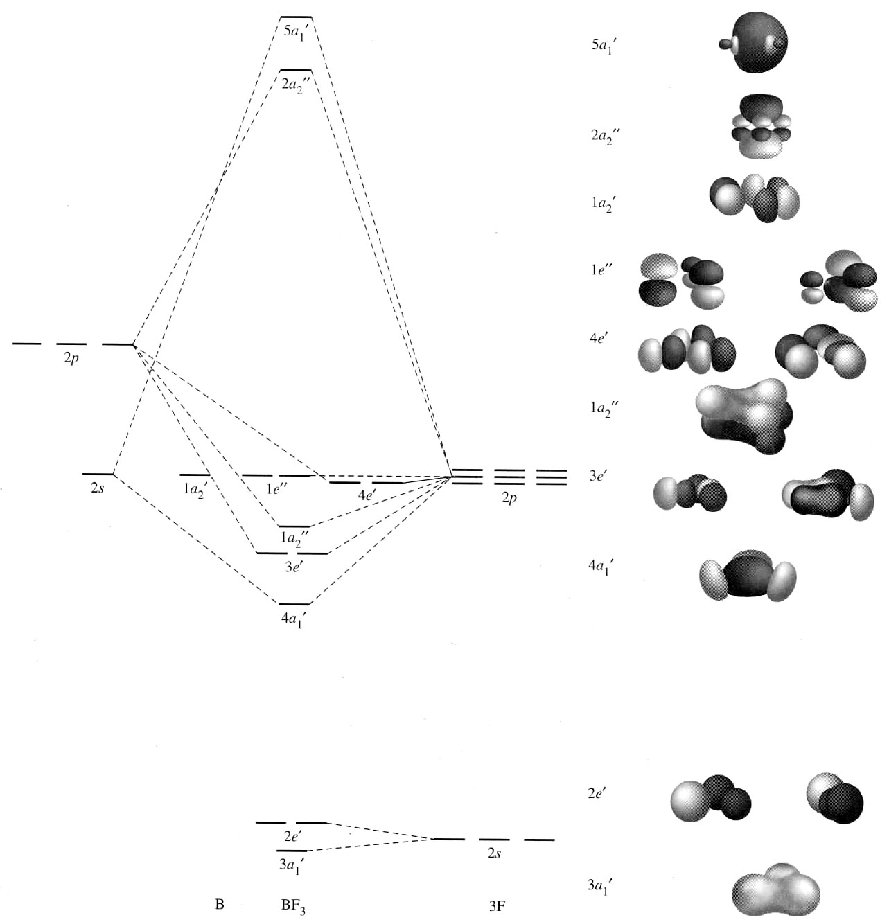 How To Do Orbital Diagrams Molecular Orbital Diagram For Bf3 Chemistry Stack Exchange
