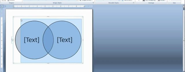 How To Make A Venn Diagram On Word How To Create A Venn Diagram In Word And Powerpoint